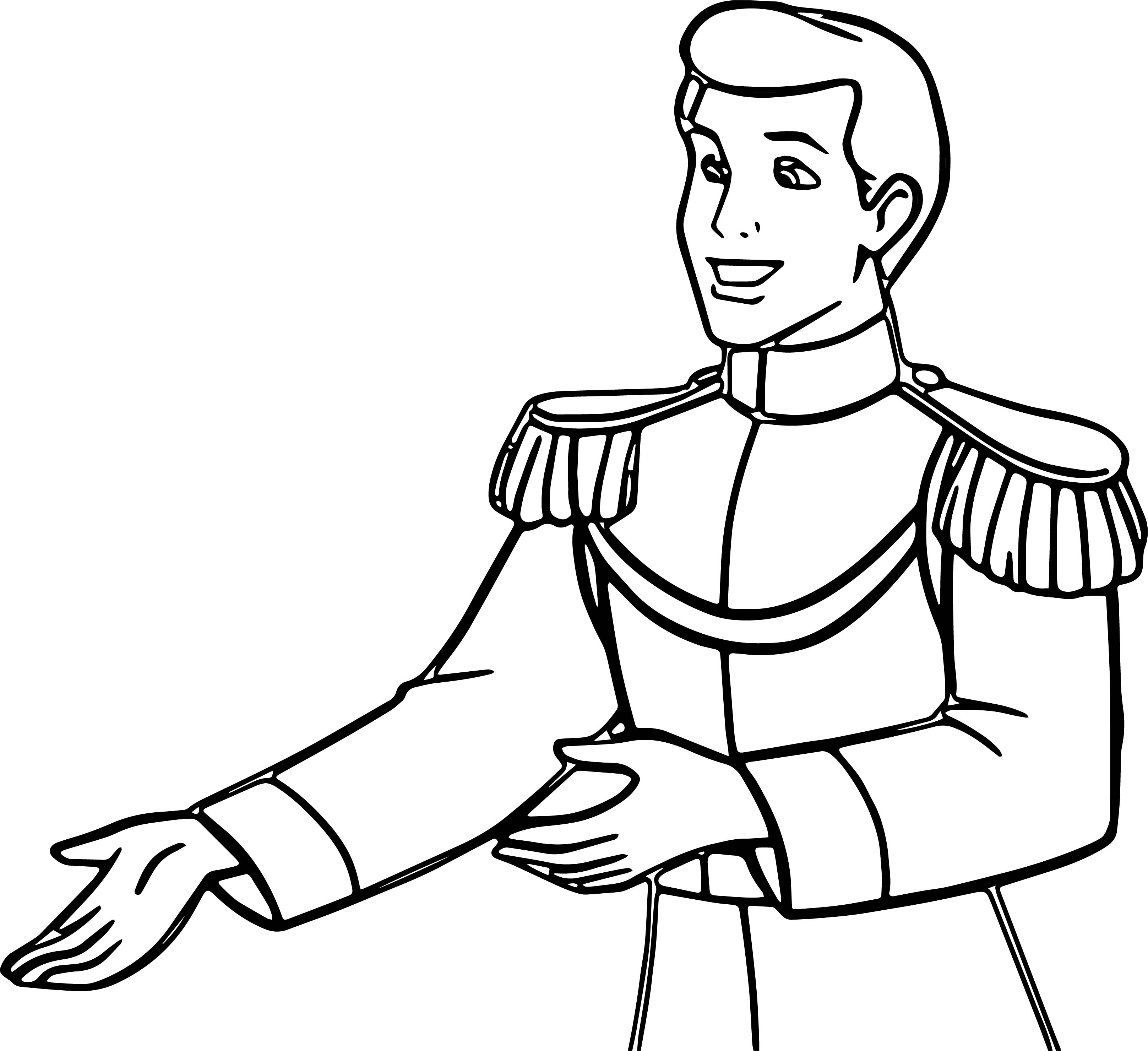 prince charming cinderella coloring pages - photo#34