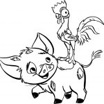 Pua Heihei Happy Coloring Page