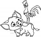 Pua Heihei Look Coloring Page