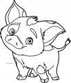 Pua Pig Disney Coloring Page