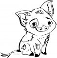 Pua Pig Pose Coloring Page