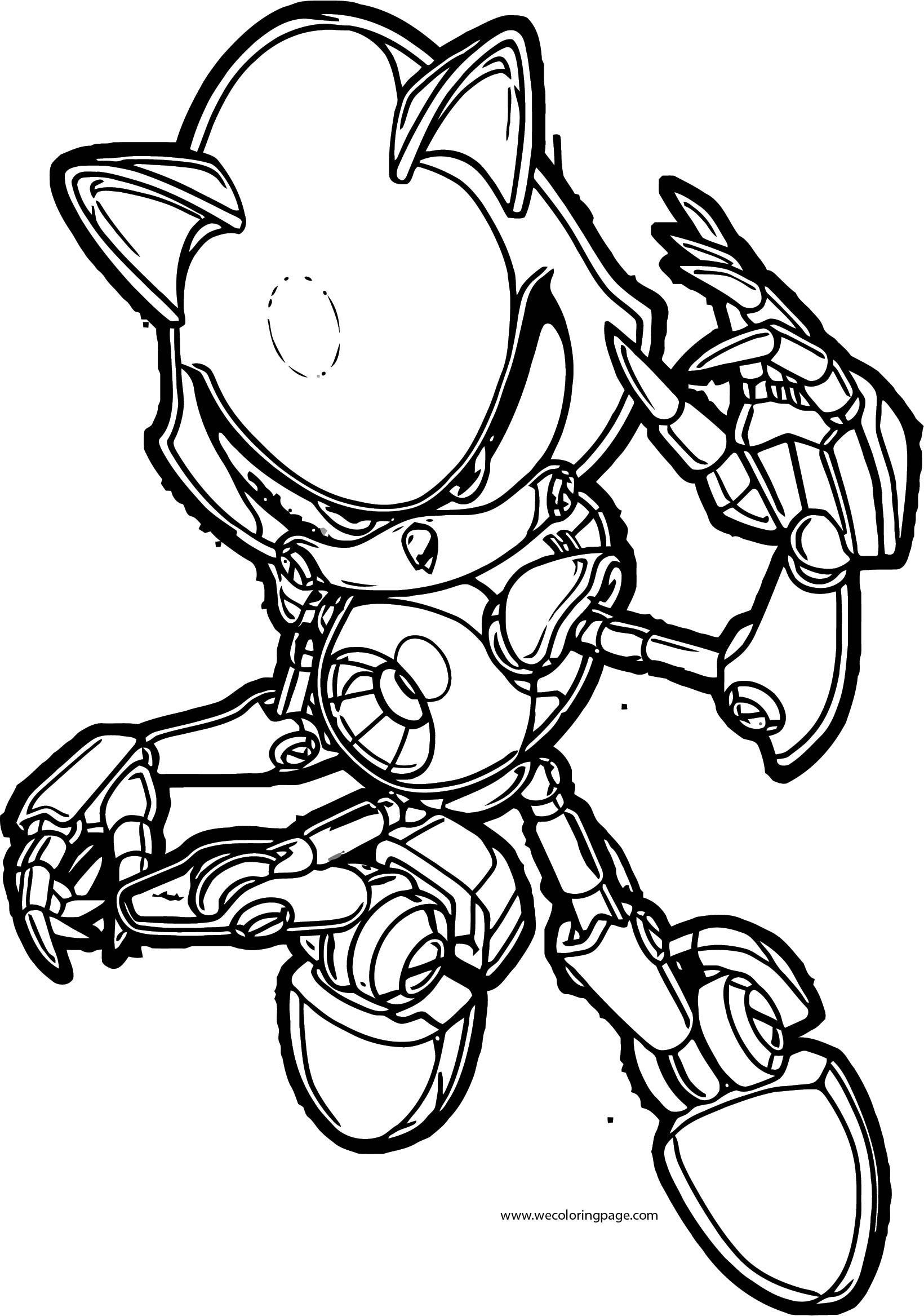 robot sonic the hedgehog coloring page