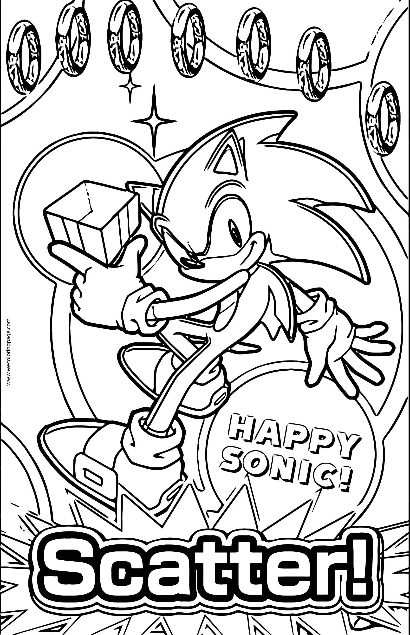 Scatter Sonic The Hedgehog Coloring Page
