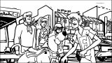 Scooby Doo Blue Falcon Coloring Page