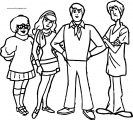 Scooby Doo Coloring Page Team