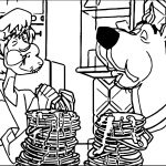 Scooby Doo Eating Coloring Page