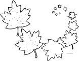 Smaller Bigger Fall Leaf Coloring Page
