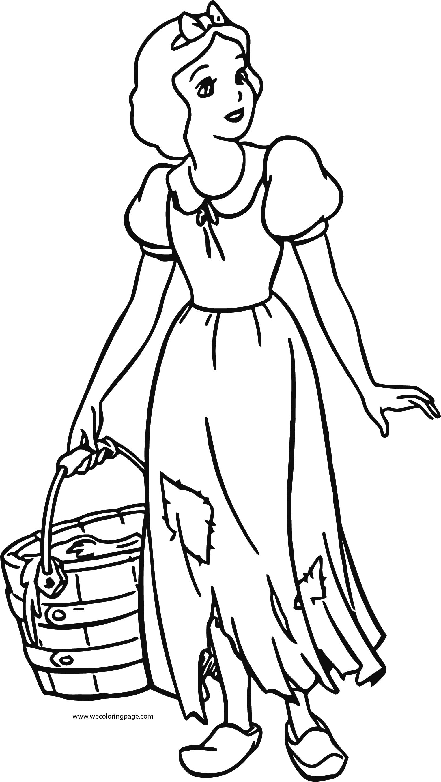 Snow White Coloring Page 054