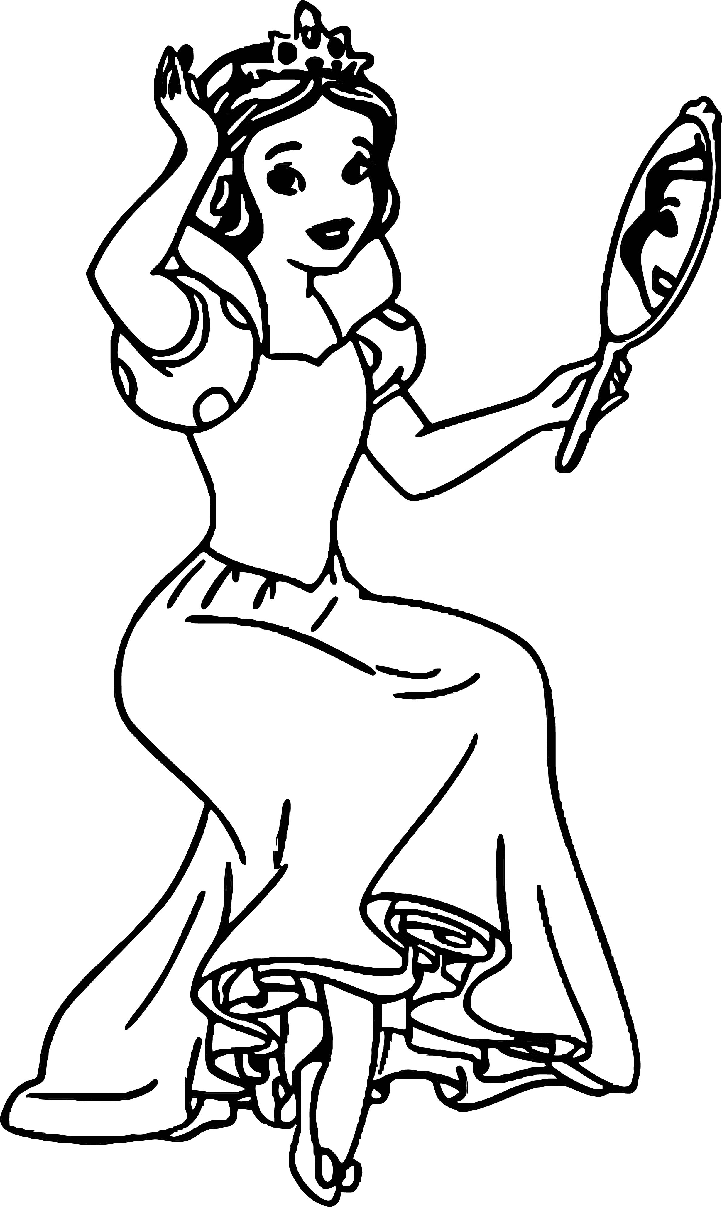 Snow White Coloring Page 073