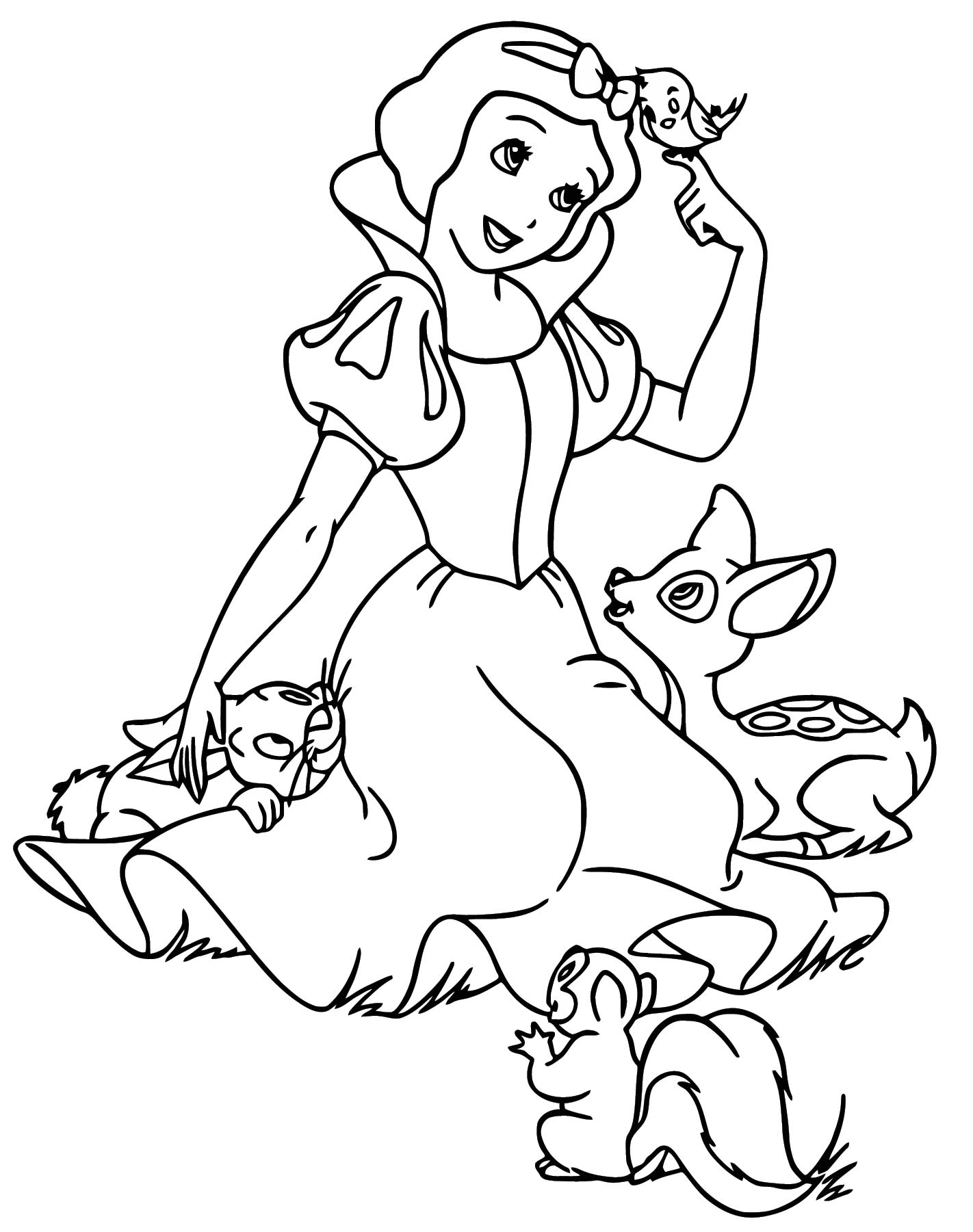 Snow White Coloring Page 075