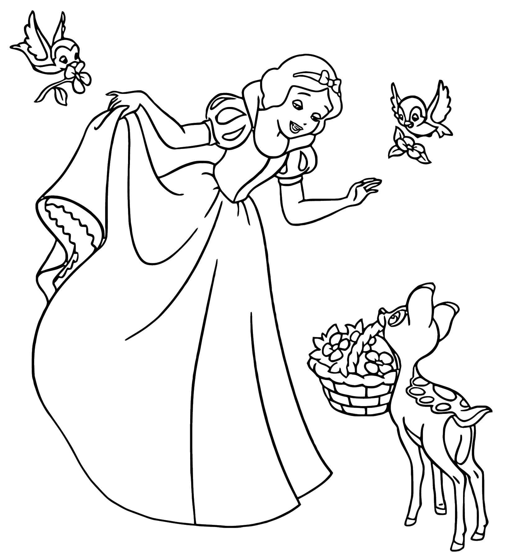 Snow White Coloring Page 083