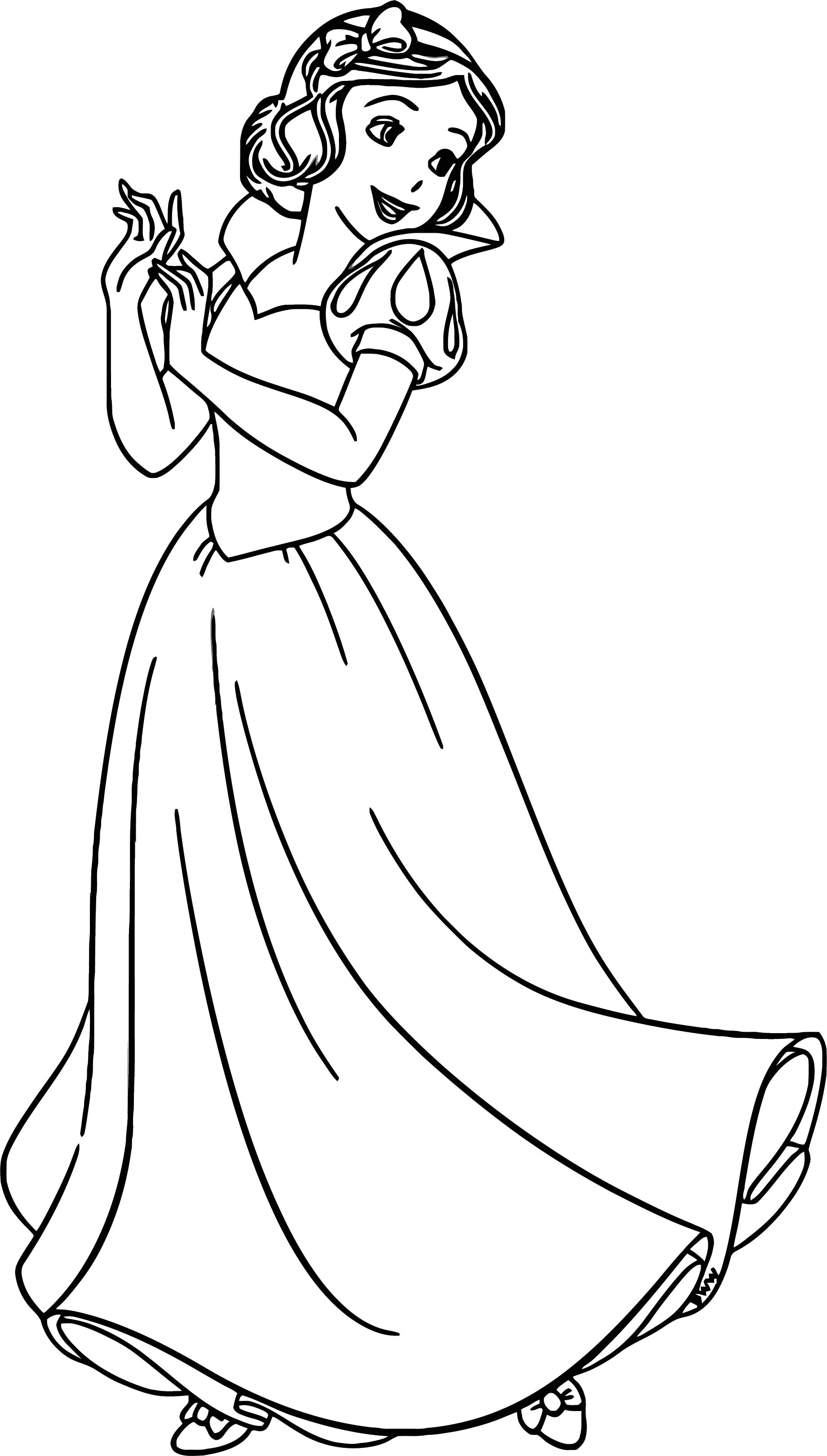 Snow White Coloring Page 098