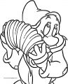 Snow White Disney Bashful Coloring Page 02