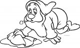 Snow White Disney Bashful Coloring Page 03