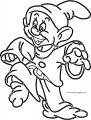 Snow White Disney Dopey Coloring Page 04
