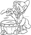 Snow White Disney Dopey Coloring Page 13