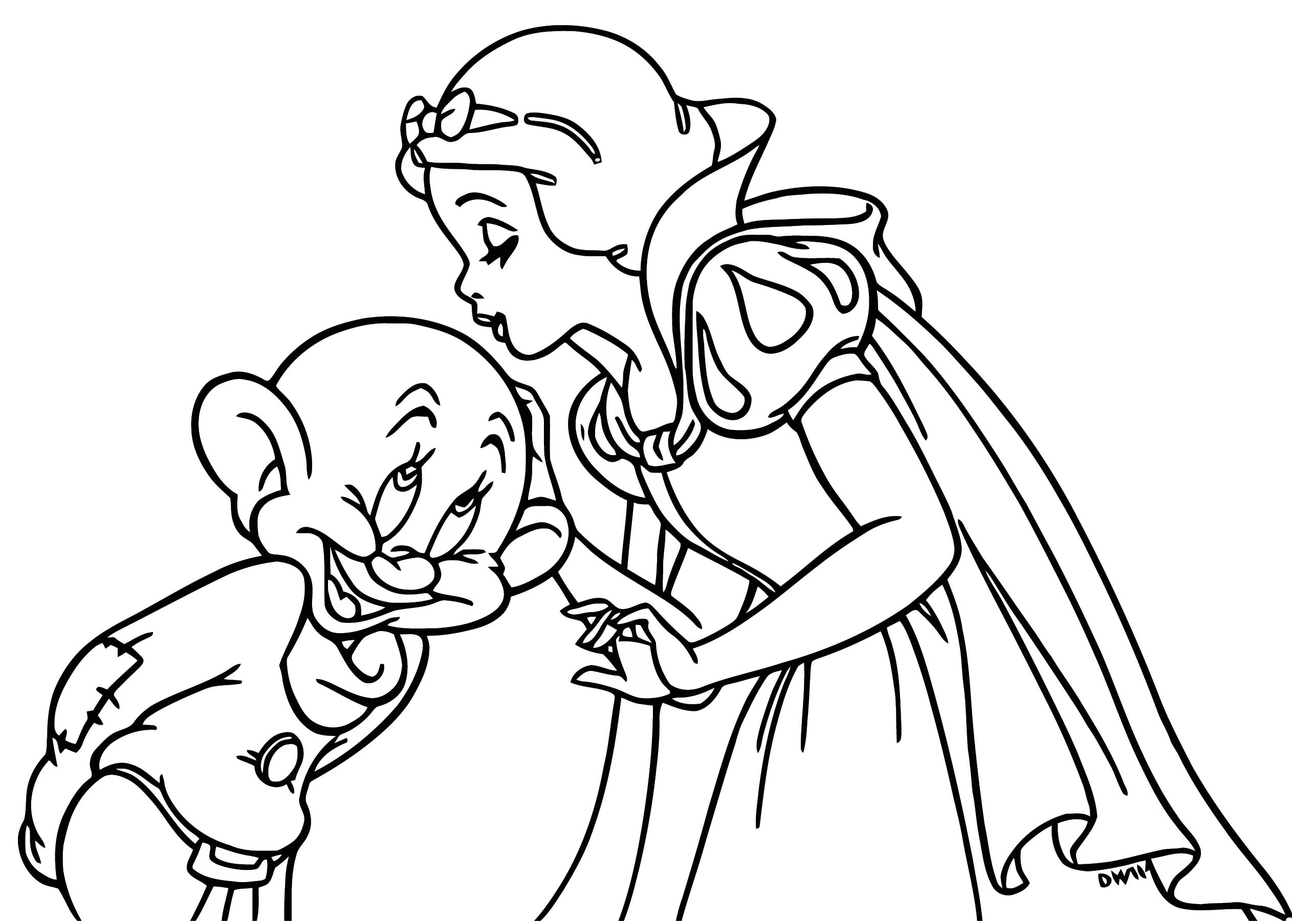 Snow White The Seven Dwarfs Coloring Page 23 | Wecoloringpage.com