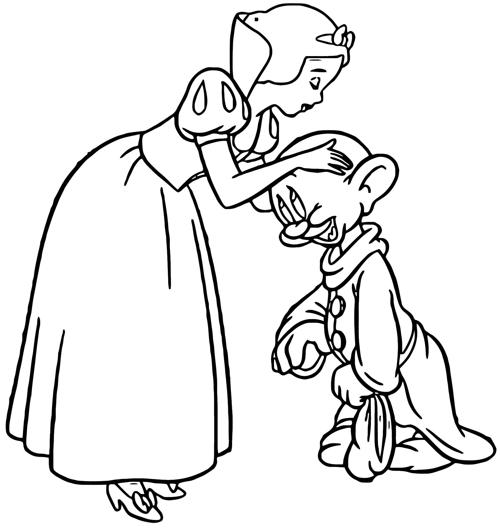 Snow White And The Seven Dwarfs Coloring Page (50 Images) - Class ...