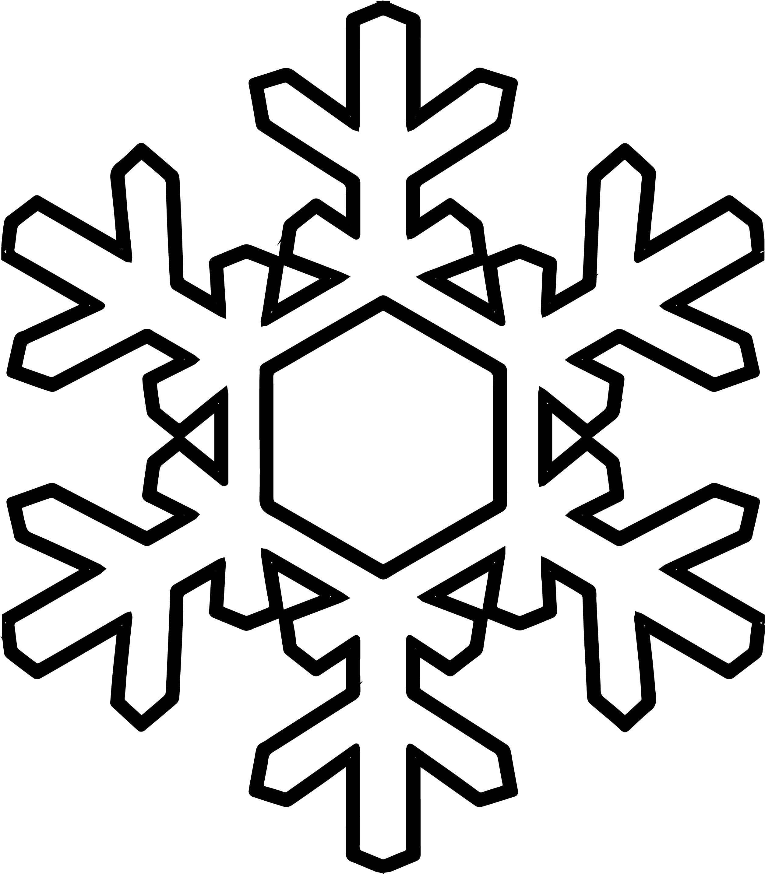 Snowflake Coloring Page WeColoringPage 15 | Wecoloringpage.com