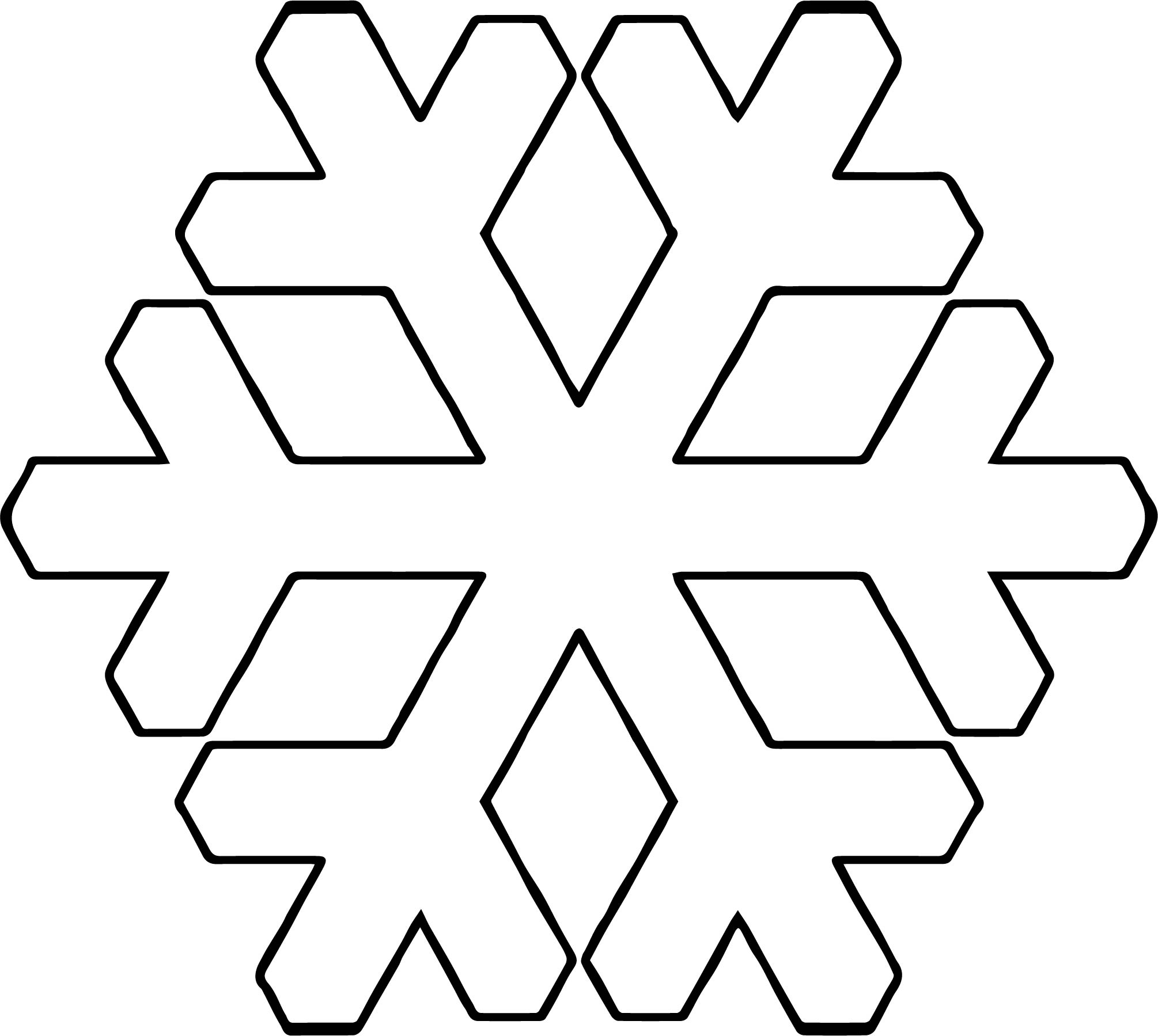 Snowflake Coloring Page WeColoringPage 30