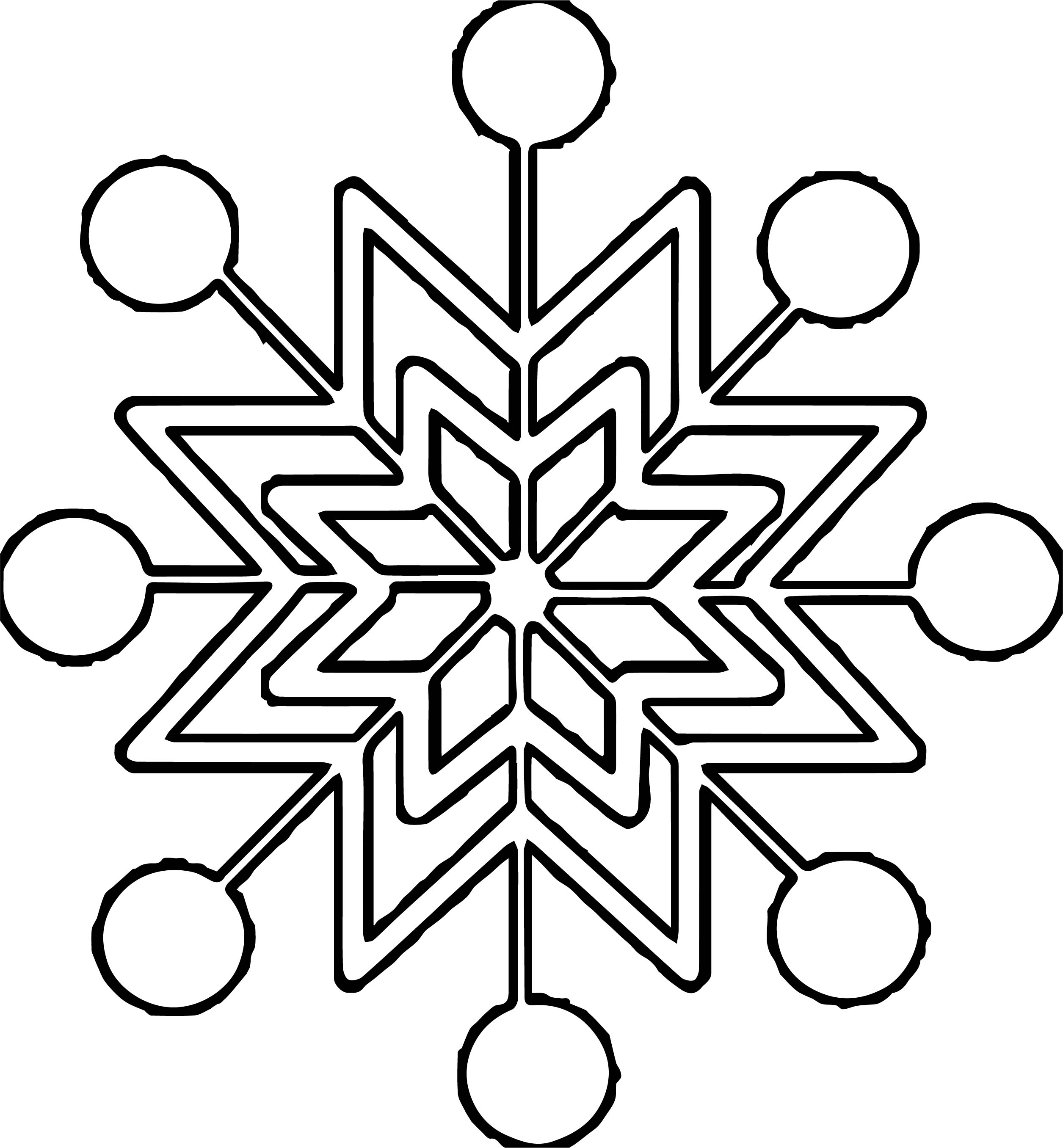 Snowflake Coloring Page WeColoringPage 32
