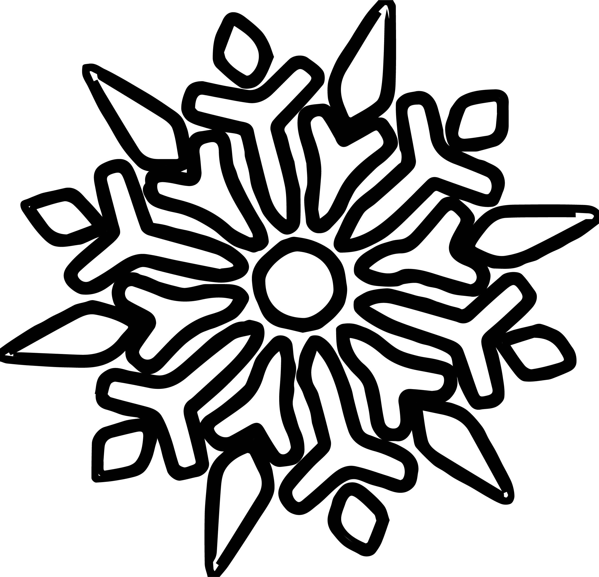 Snowflake Coloring Page WeColoringPage 38