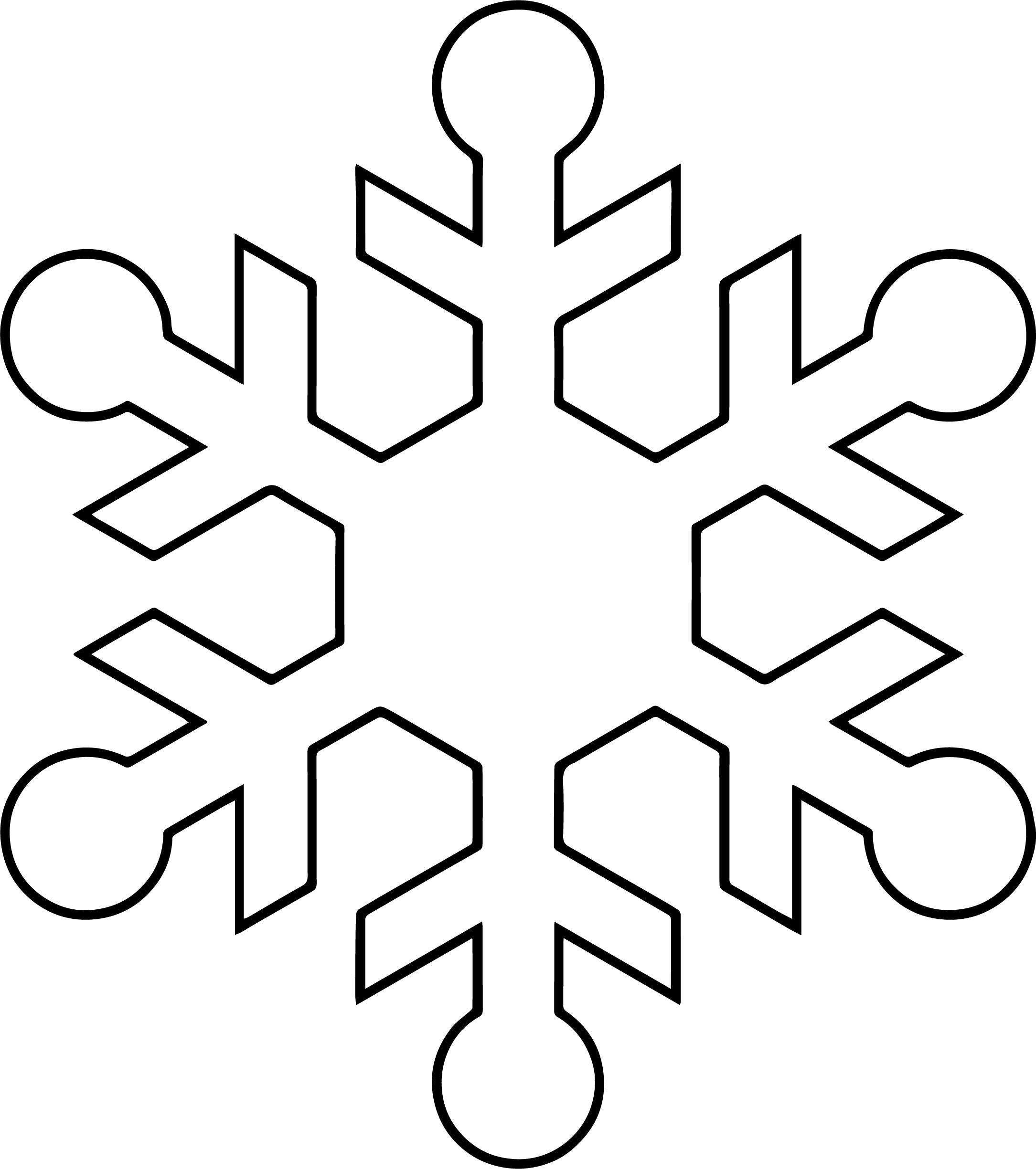 Snowflake Coloring Page WeColoringPage 43