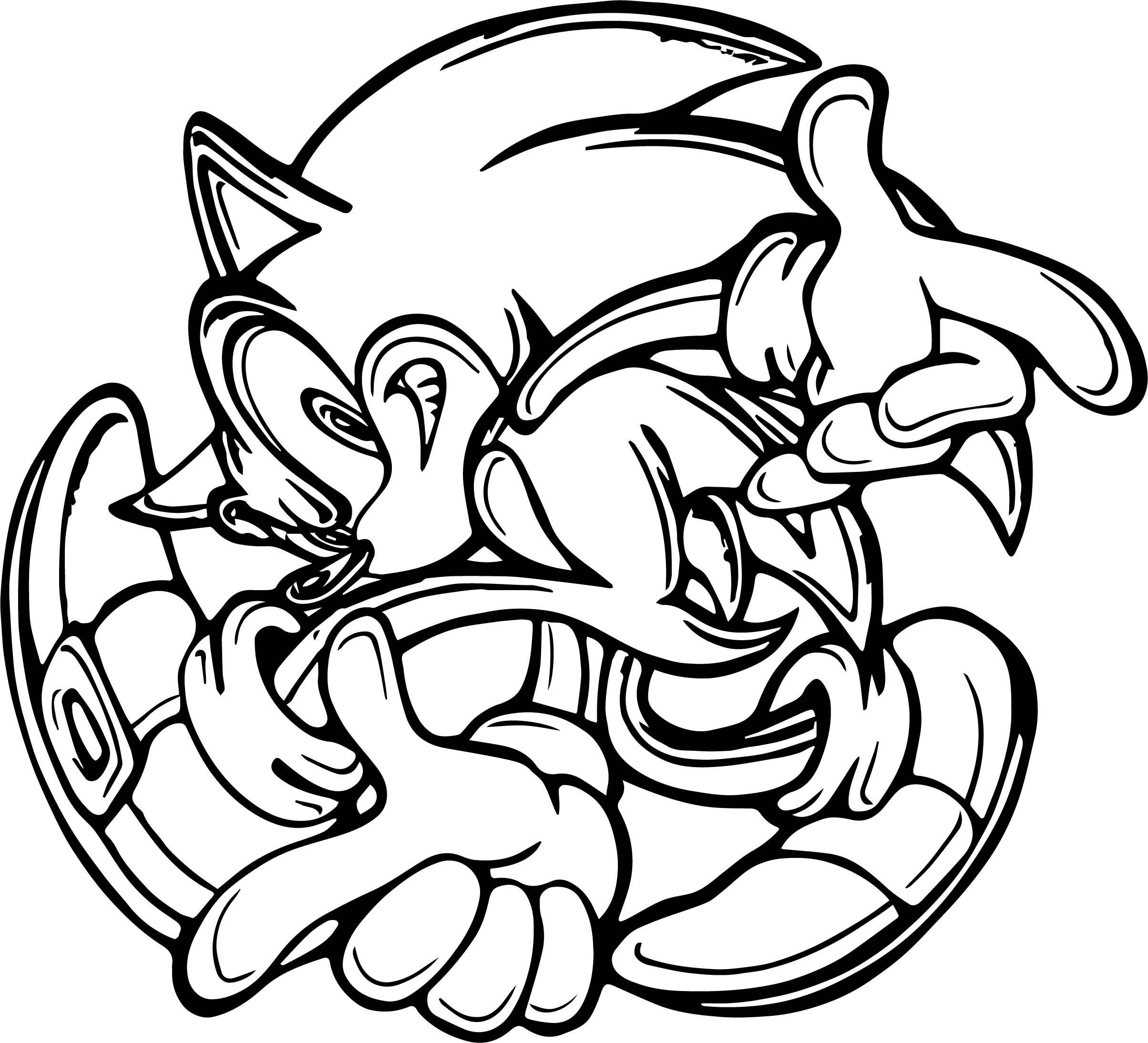 Sonic The Hedgehog Coloring Page WeColoringPage 010