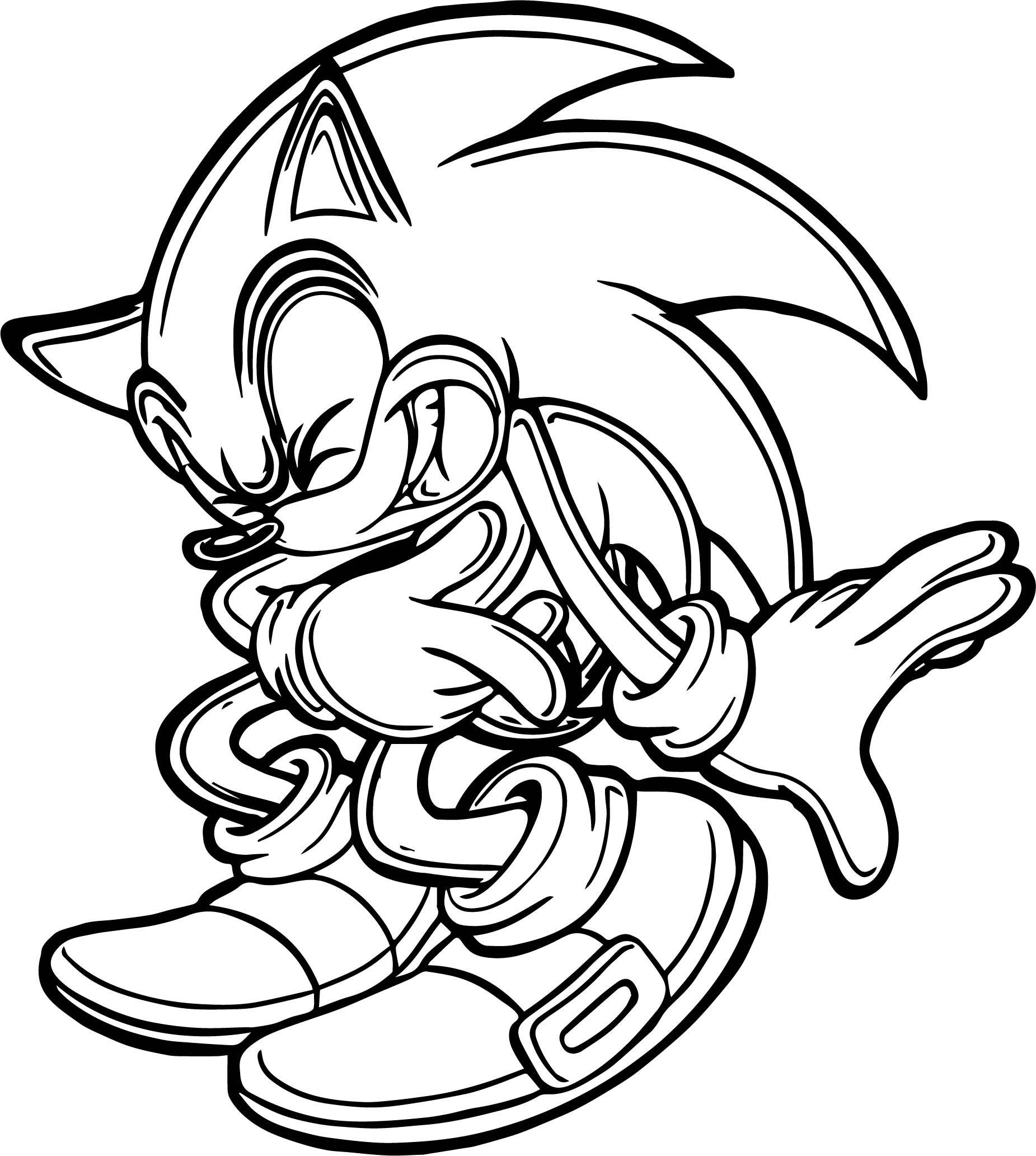 Sonic The Hedgehog Coloring Page WeColoringPage 019