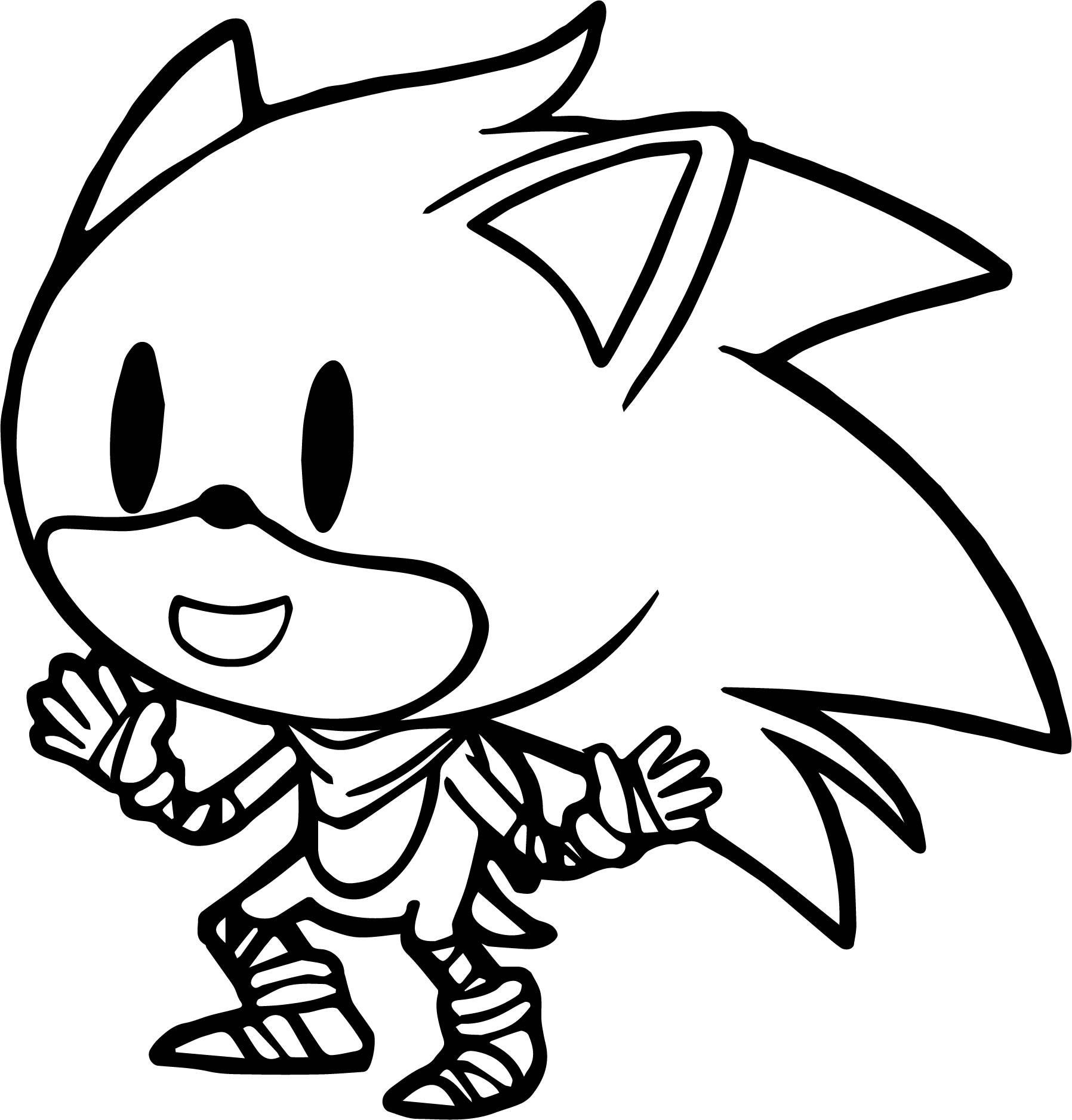 Sonic The Hedgehog Coloring Page WeColoringPage 270