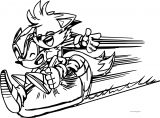 Sonic The Hedgehog Electric Run Coloring Page