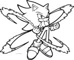 Sonic The Hedgehog Get Power Coloring Page