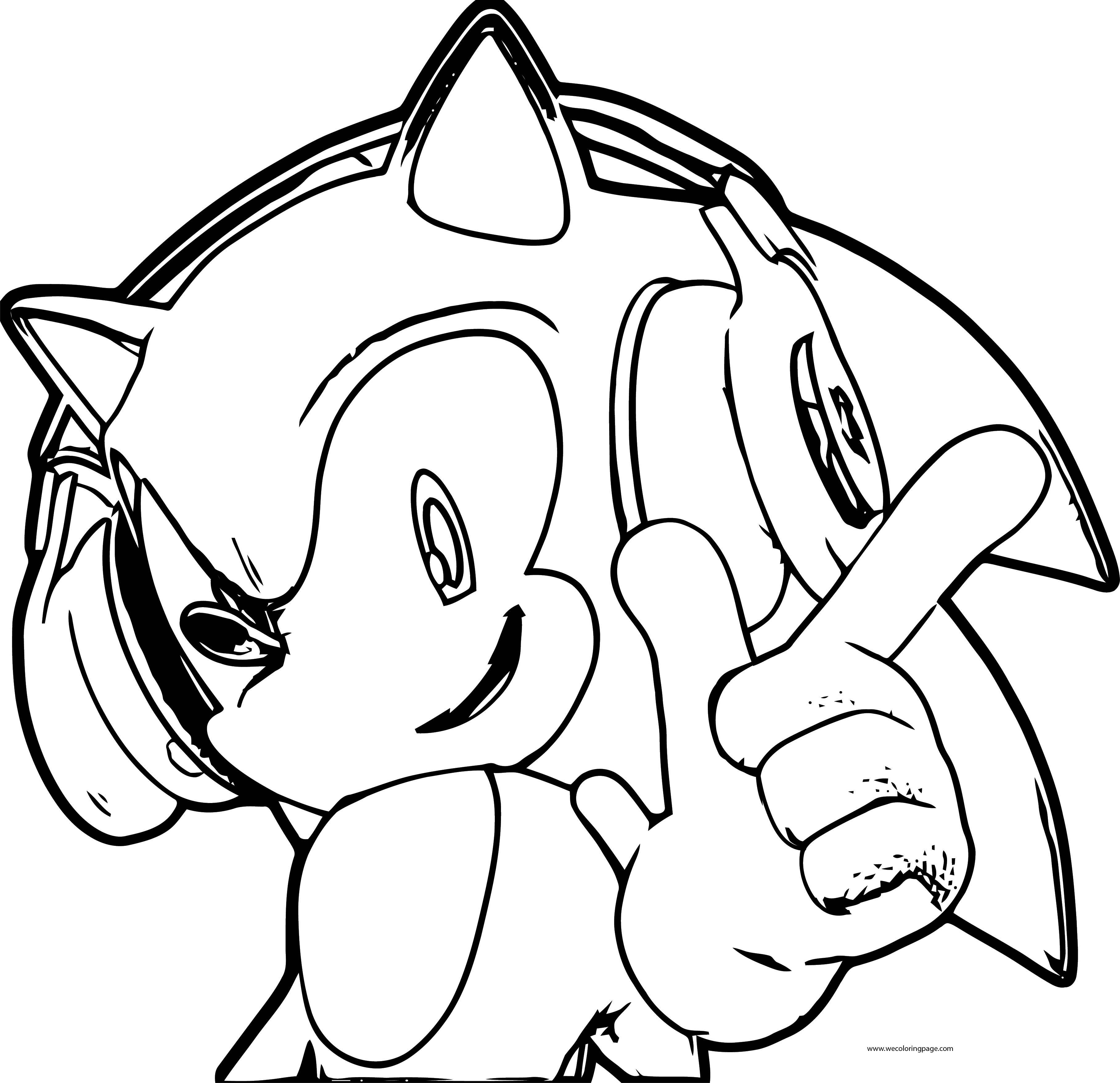 Sonic The Hedgehog Listening Music Coloring Page