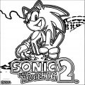 Sonic The Hedgehog Two Coloring Page