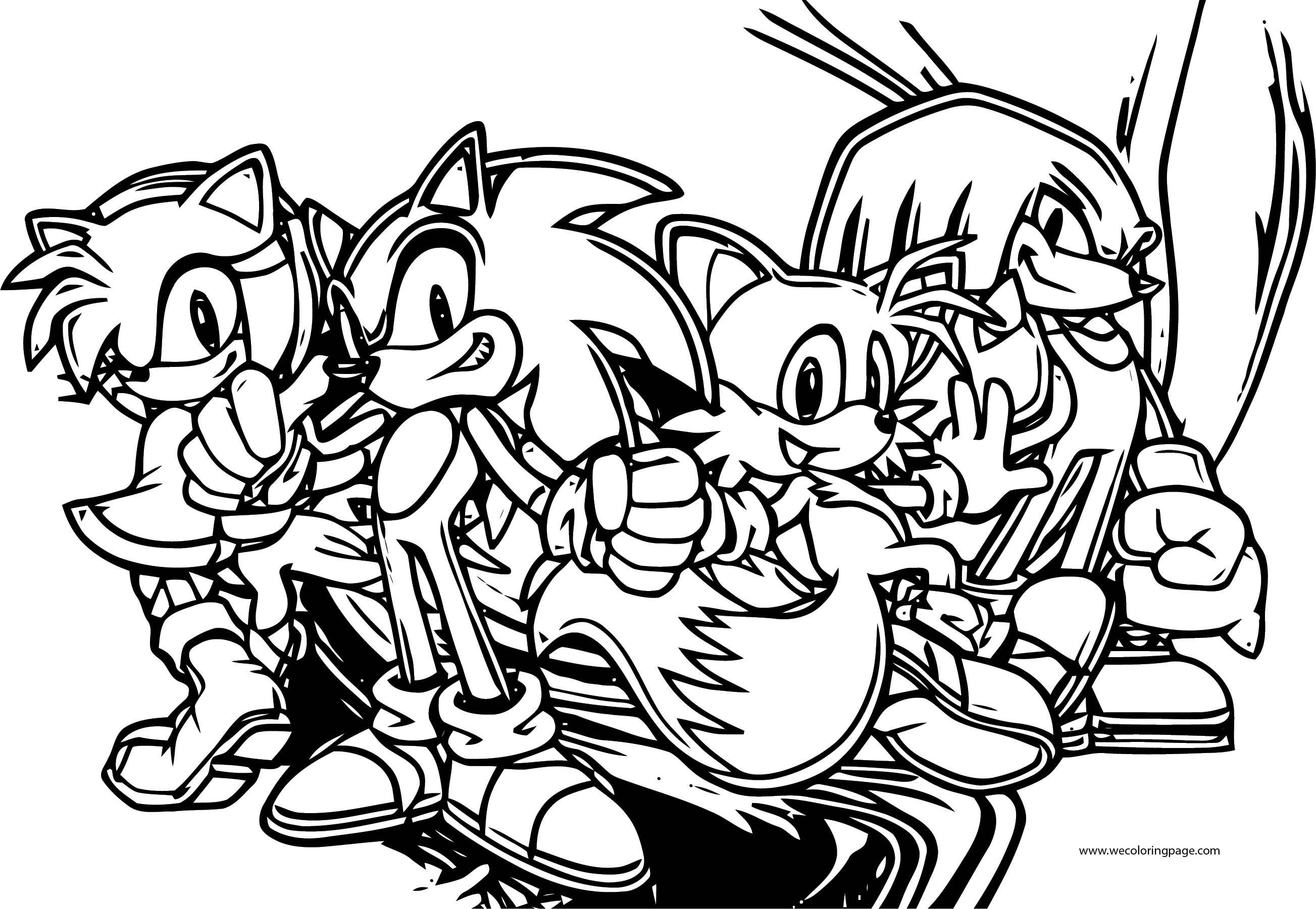 Sonic The Hedgehog With Friends Coloring Page