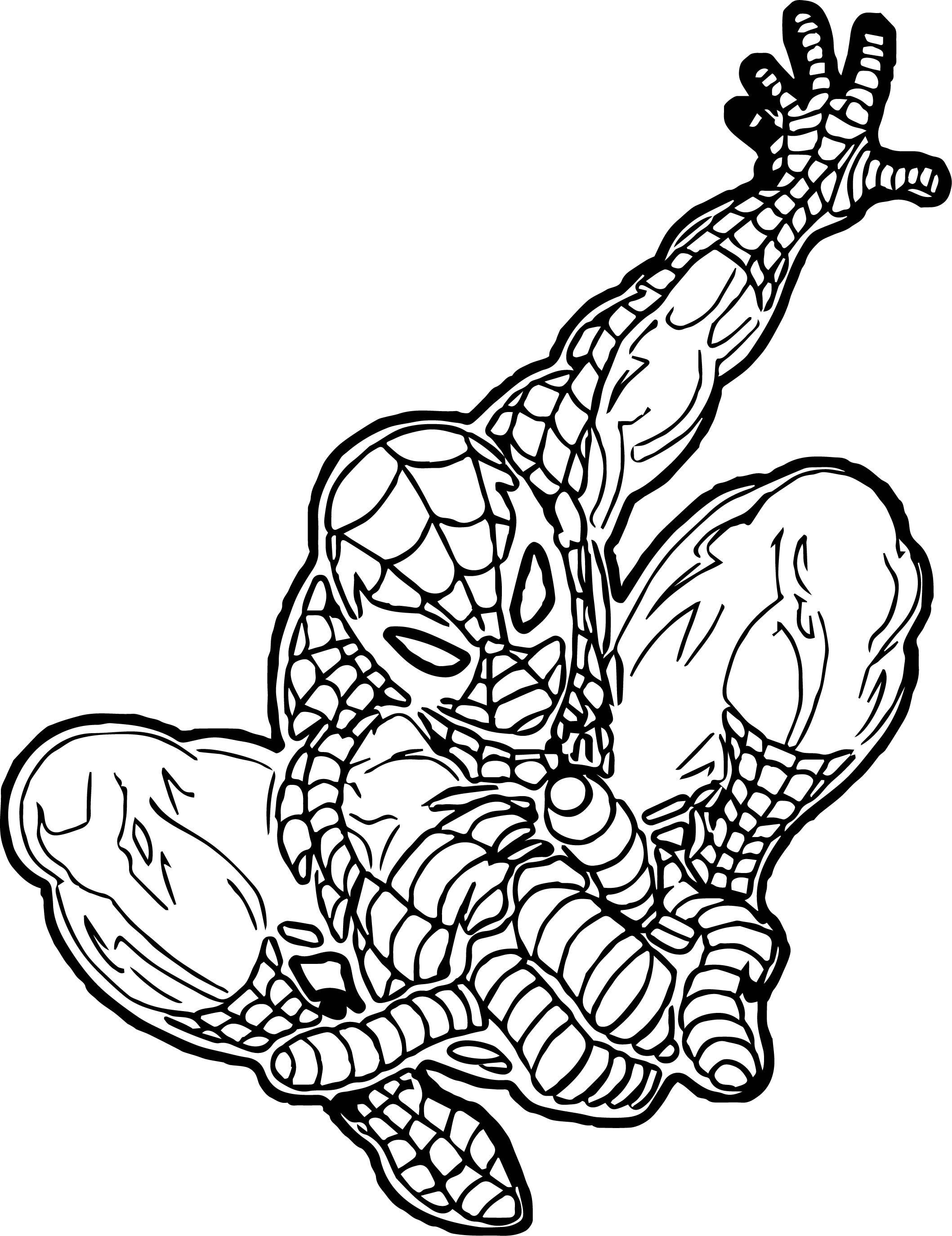 Spider Man Coloring Page WeColoringPage 107