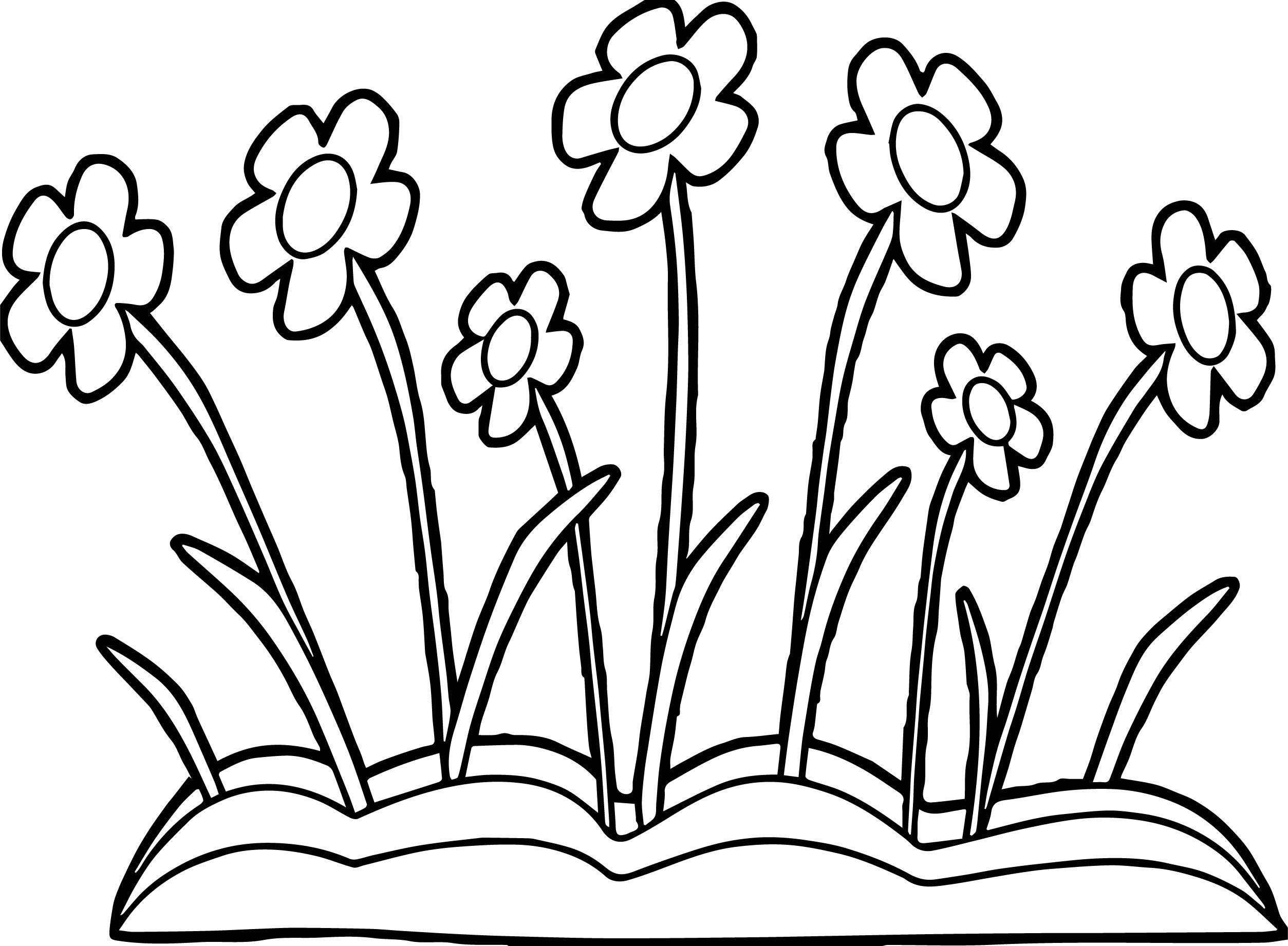 Spring Flowers Coloring Page