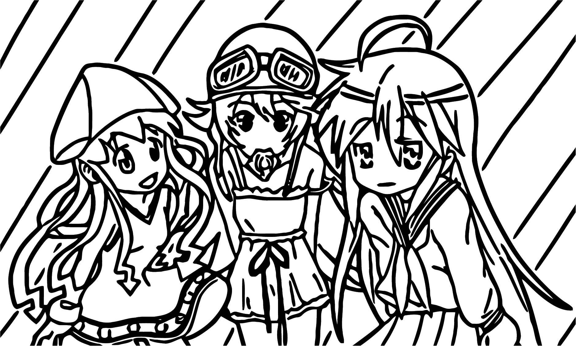 Squid Girl Coloring Page 108