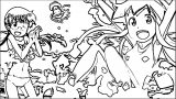 Squid Girl Coloring Page 125