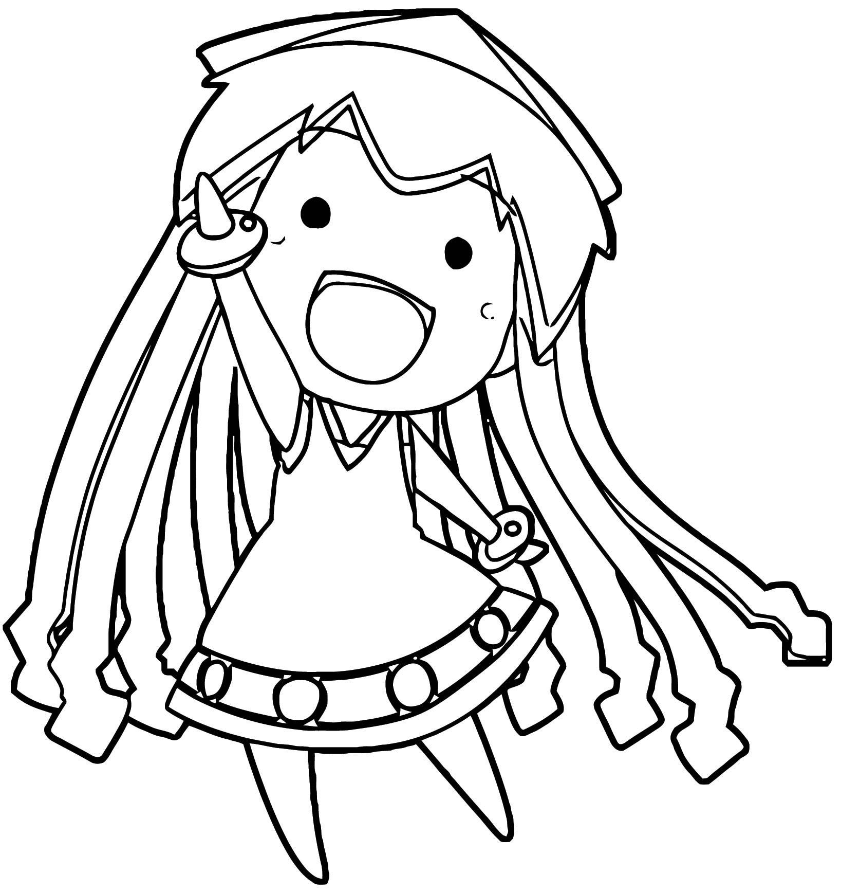 Squid Girl Coloring Page 160