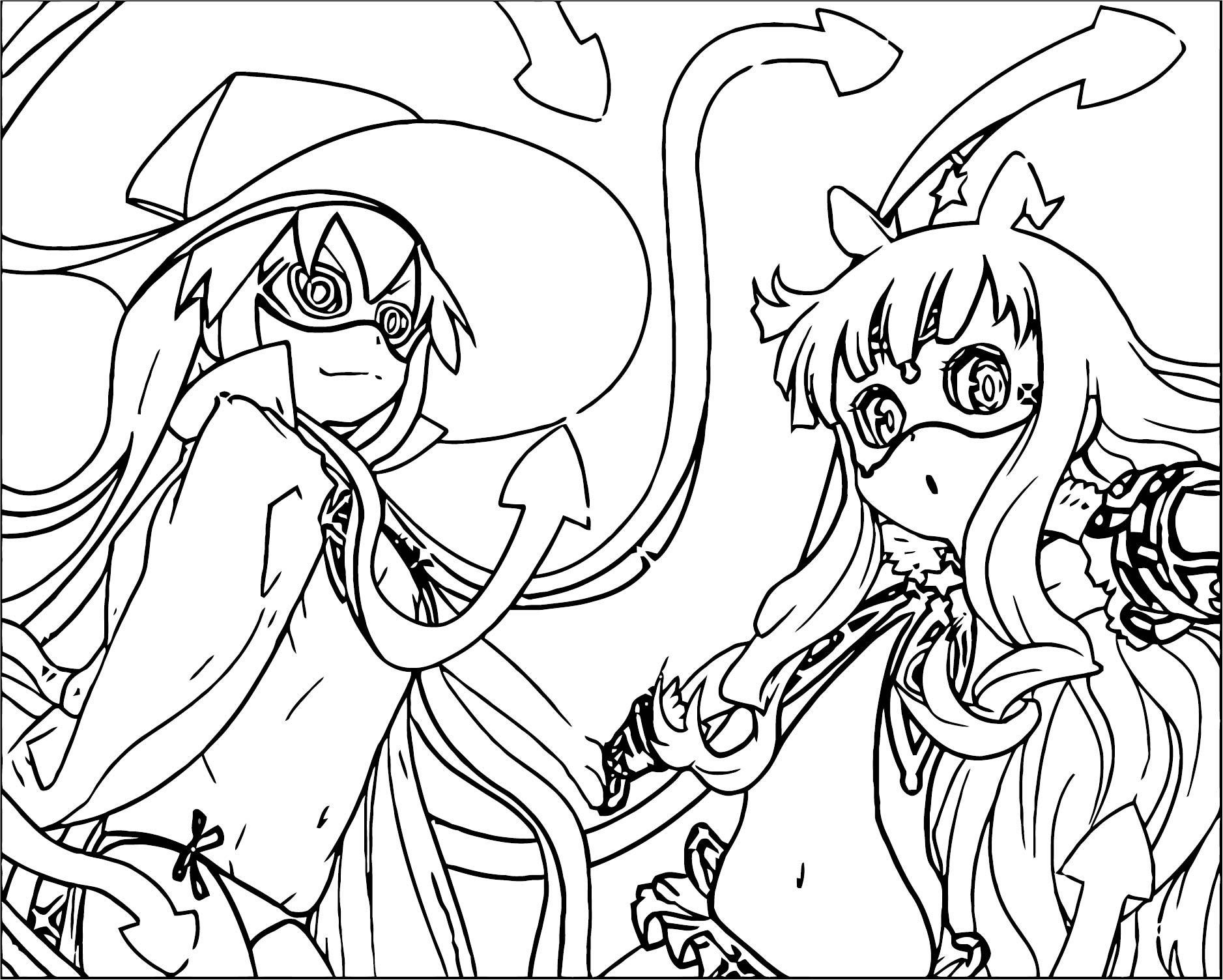 Squid Girl Coloring Page 176