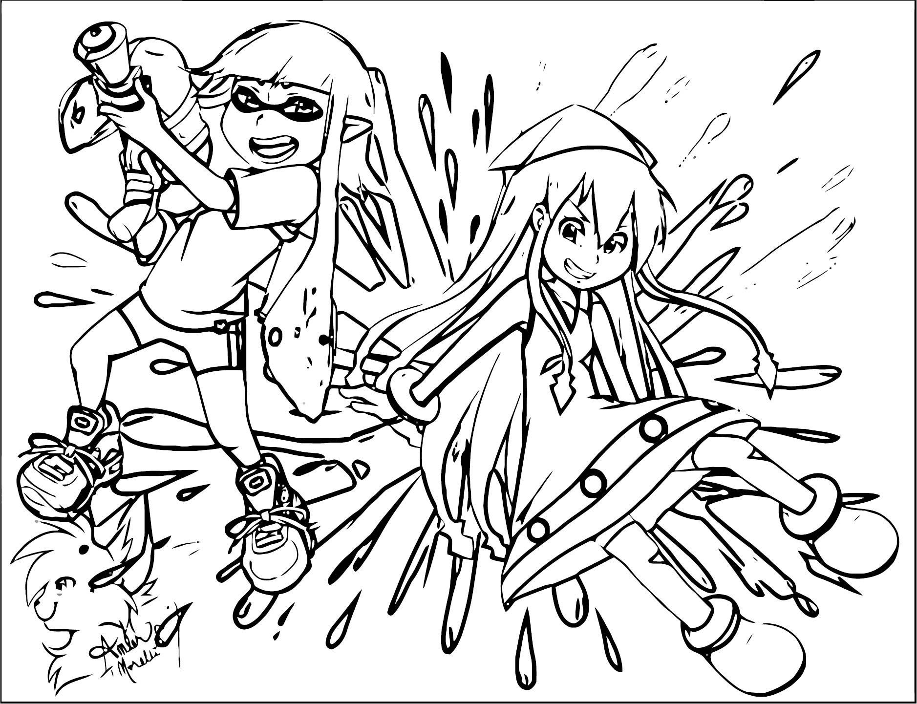 Squid Girl Coloring Page 327
