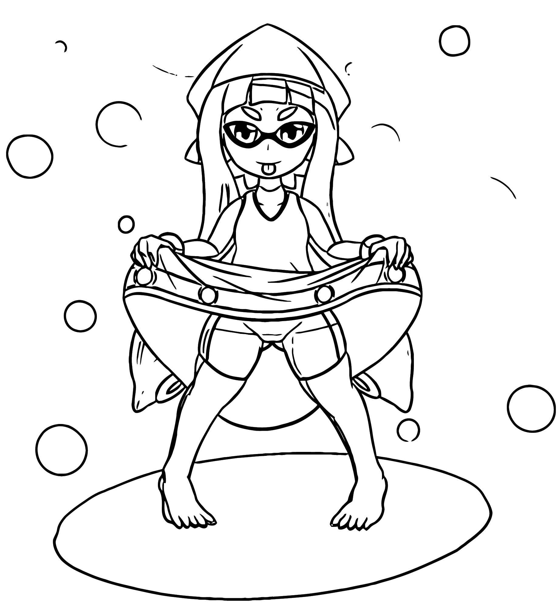Squid Girl Coloring Page 330