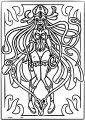 Squid Girl Creature Sheet Coloring Page