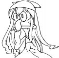 Squid Girl Doodle Coloring Page