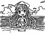 Squid Girl For Newspaperninja Commission Coloring Page