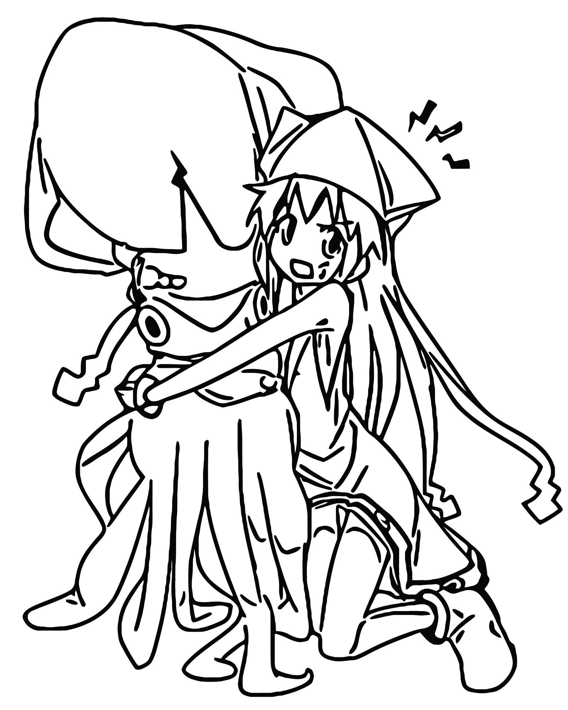 Squid Girl Image Squid Girl Cartoon Coloring Page