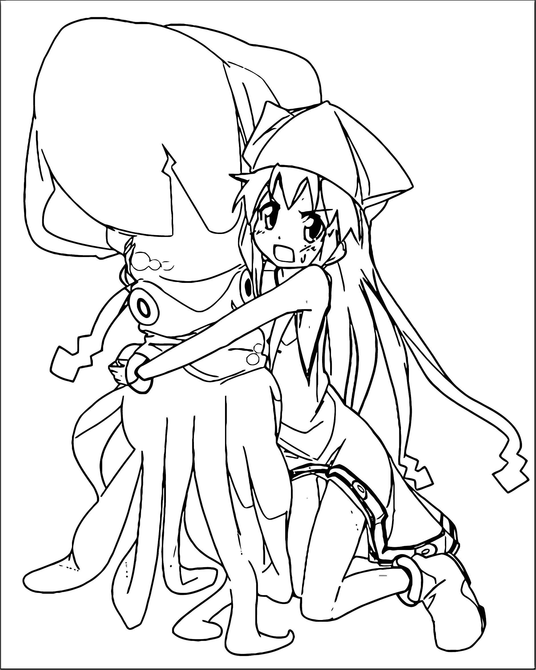 Squid Girl Image Squid Girl Coloring Page