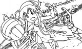 Squid Girl Volleyball Coloring Page