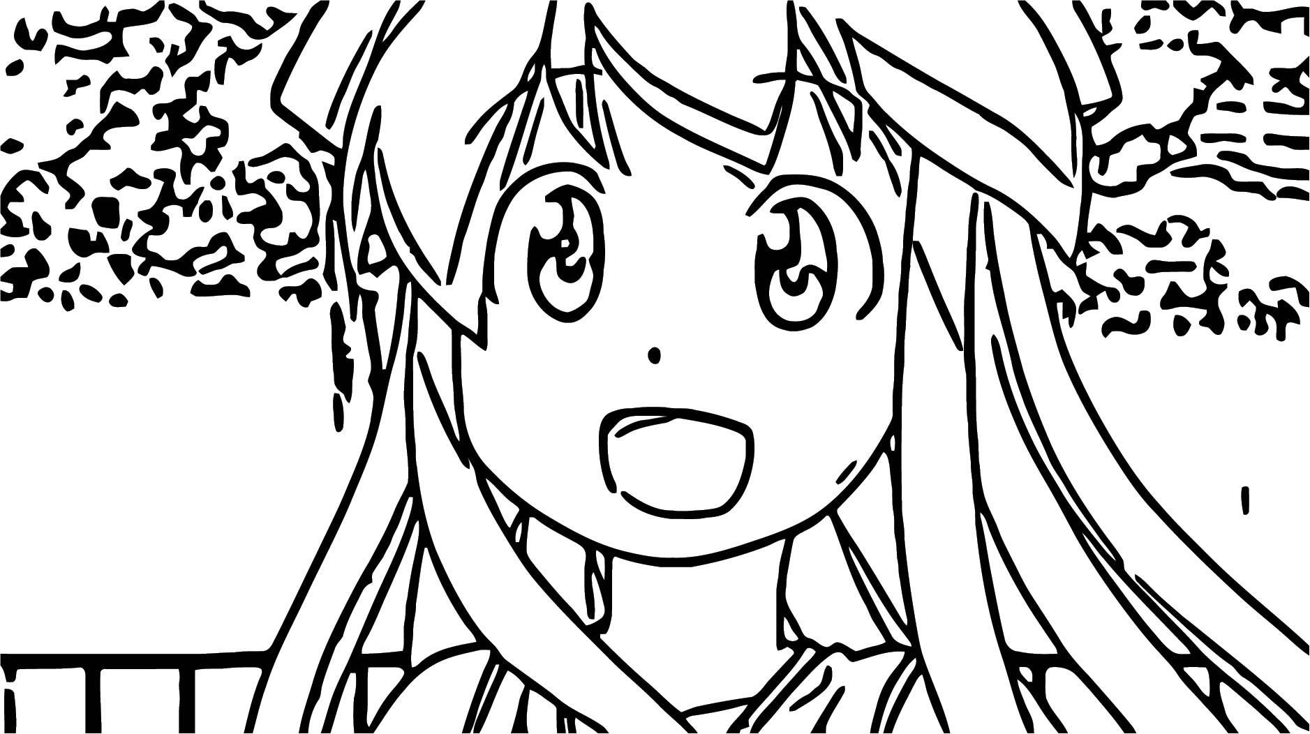 Sweet Face Squid Girl Season Episode Cartoon Coloring Page